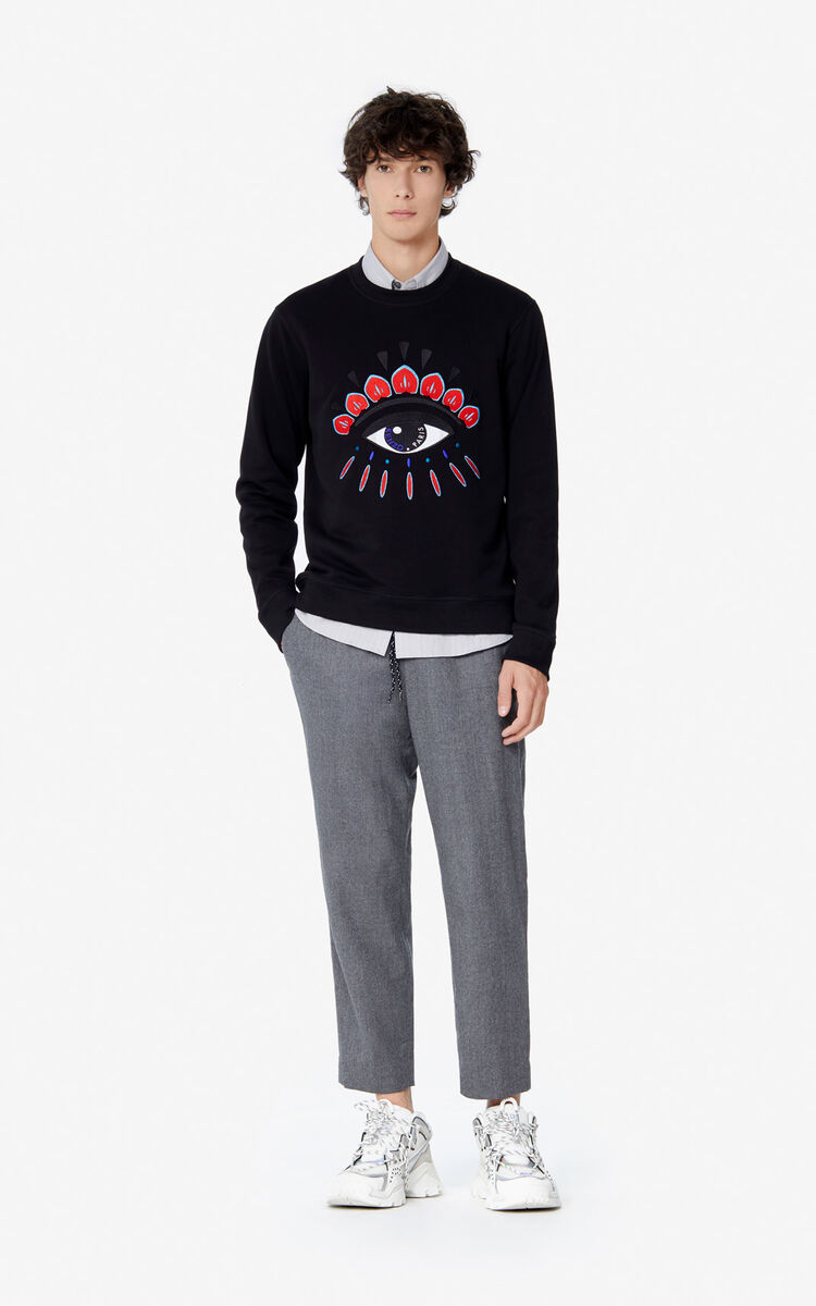 BLACK 'Holiday Capsule' Eye sweatshirt for men KENZO