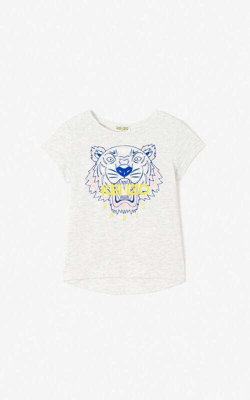 PALE GREY Tiger T-shirt for men KENZO