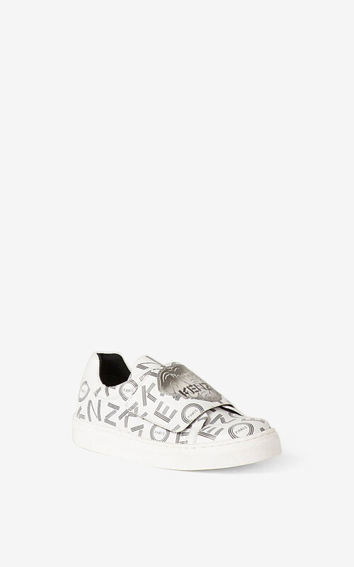 WHITE 'Ventura' low-top sneakers. for unisex KENZO