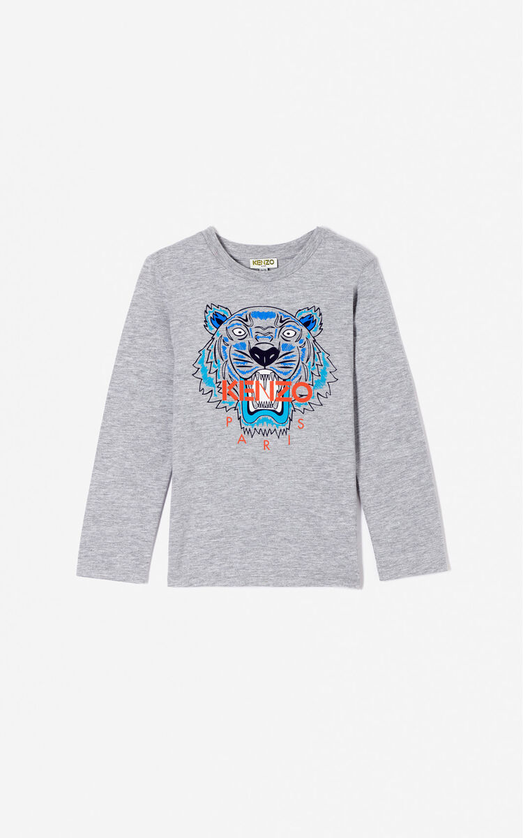 MIDDLE GREY Tiger t-shirt for men KENZO