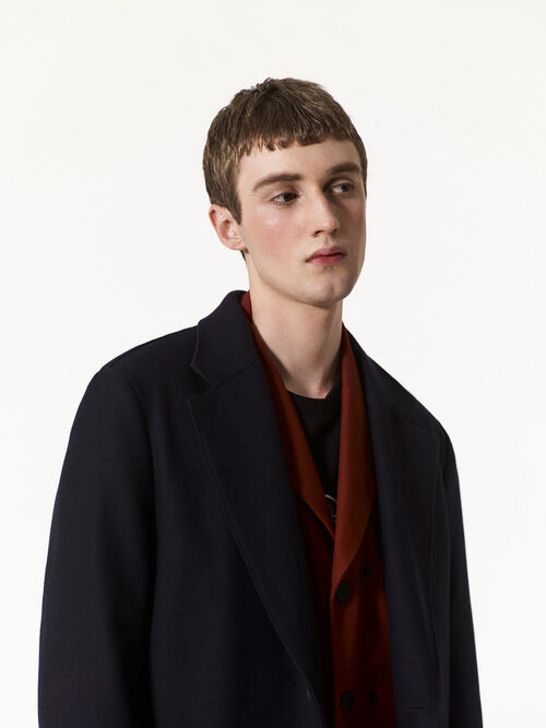 NAVY BLUE Scuba Wool Coat for men KENZO