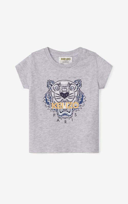 PEARL GREY Tiger T-shirt for unisex KENZO
