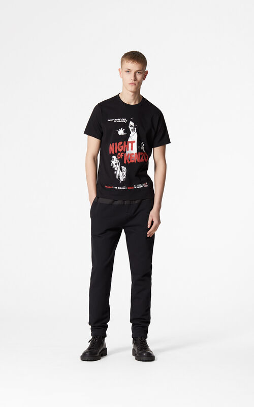 BLACK 'Movie Posters' T-shirt for women KENZO