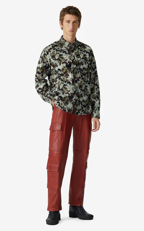 OLIVE 'Rose Camo' corduroy shirt for men KENZO