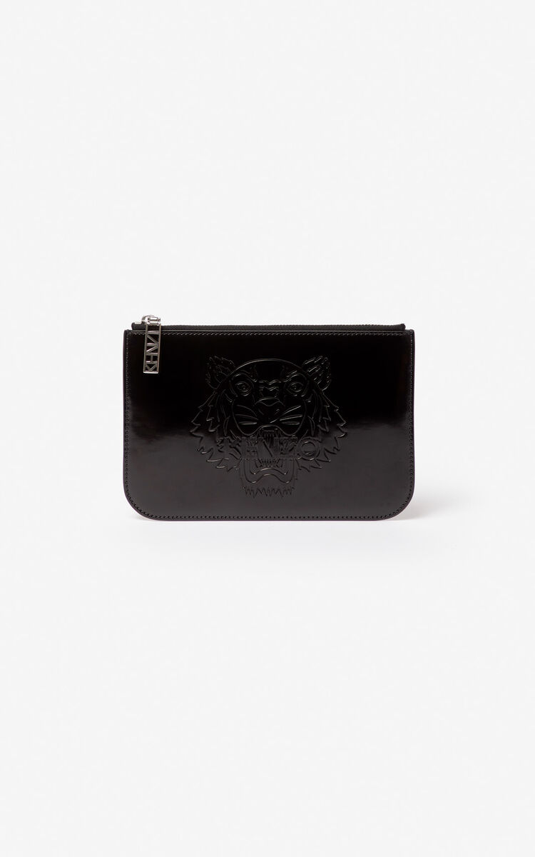 BLACK A5 Tiger clutch for women KENZO
