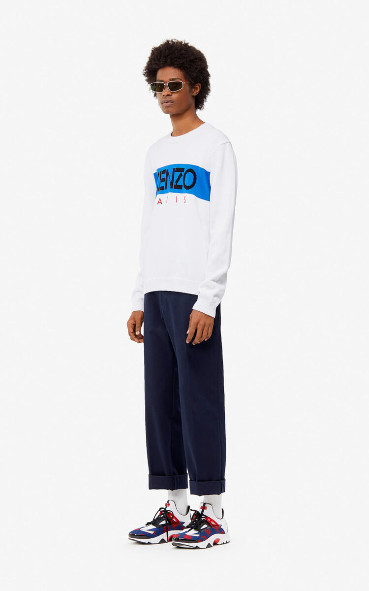 WHITE KENZO Paris jumper for women