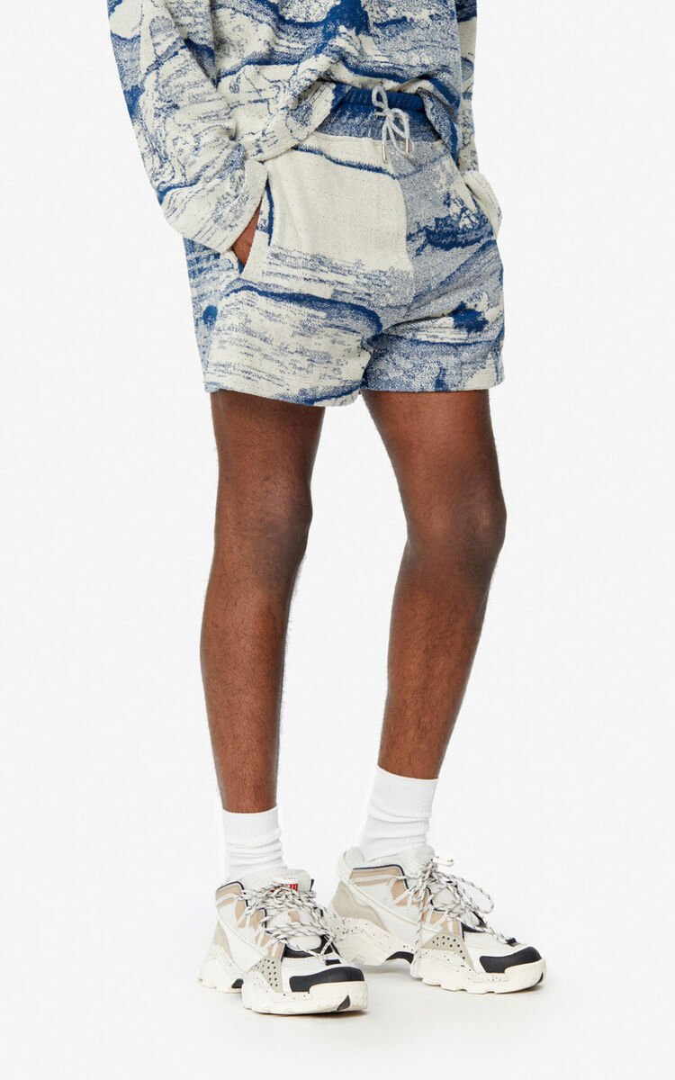 DUCK BLUE 'Ama Diver' shorts for men KENZO