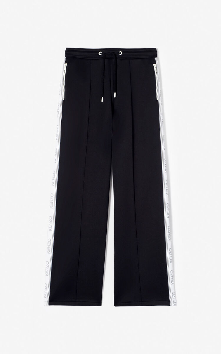 BLACK KENZO Logo jogging bottoms for women