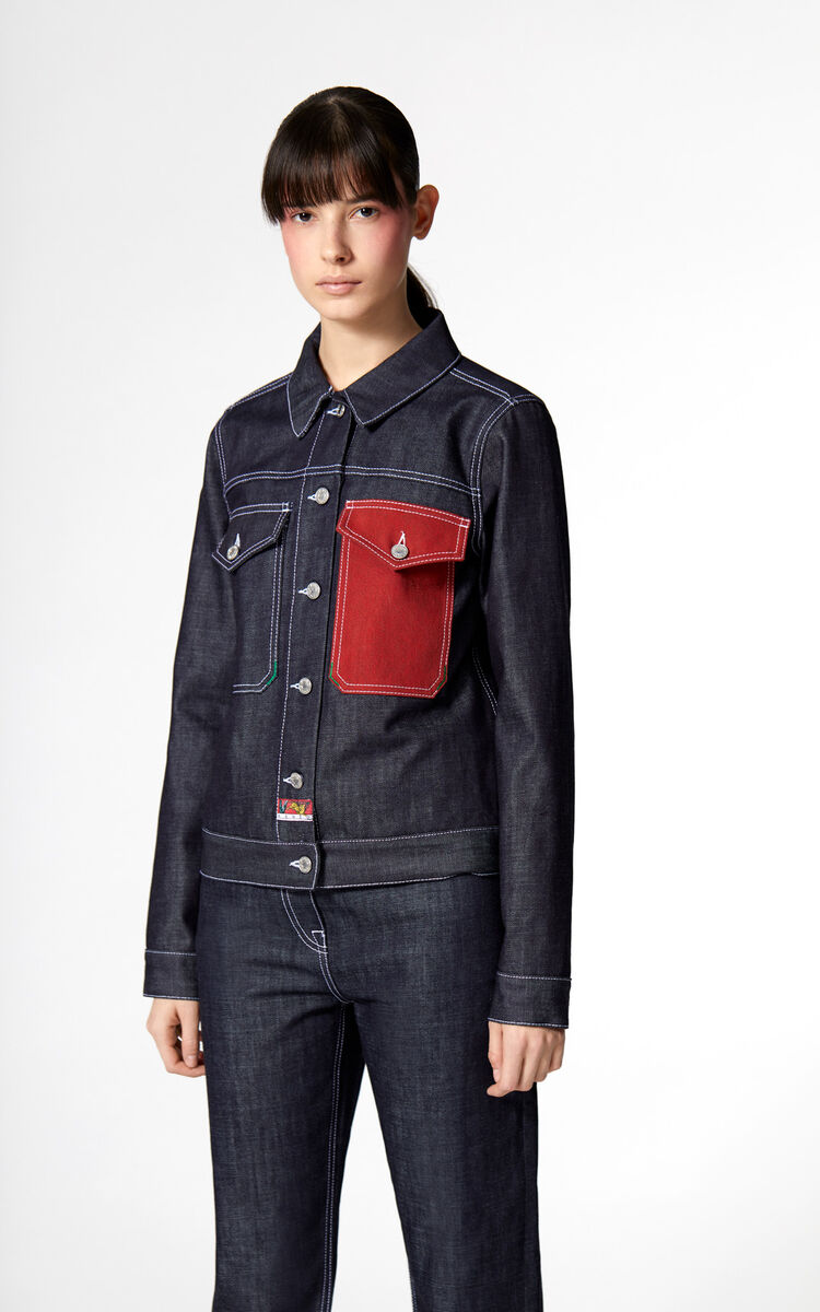 NAVY BLUE Trucker denim jacket for women KENZO
