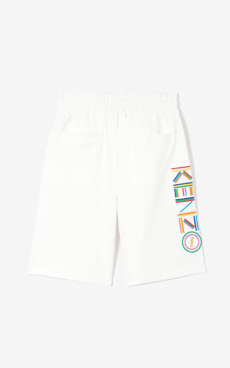 WHITE 'High Summer Capsule Collection' KENZO Logo shorts for women