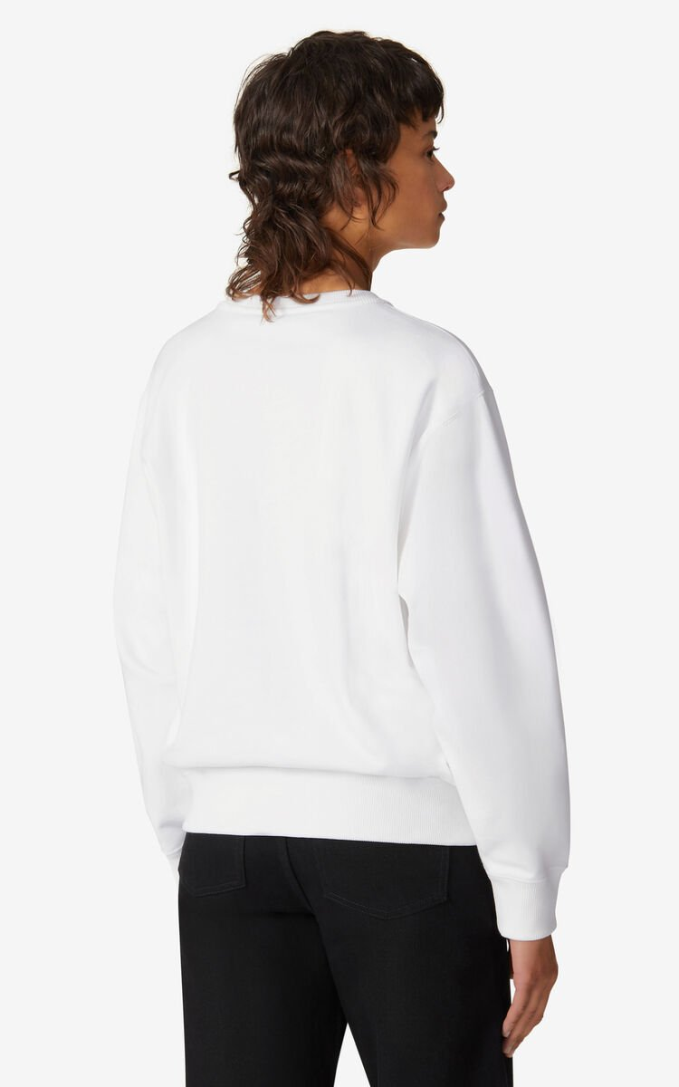 WHITE K-Tiger sweatshirt for women KENZO