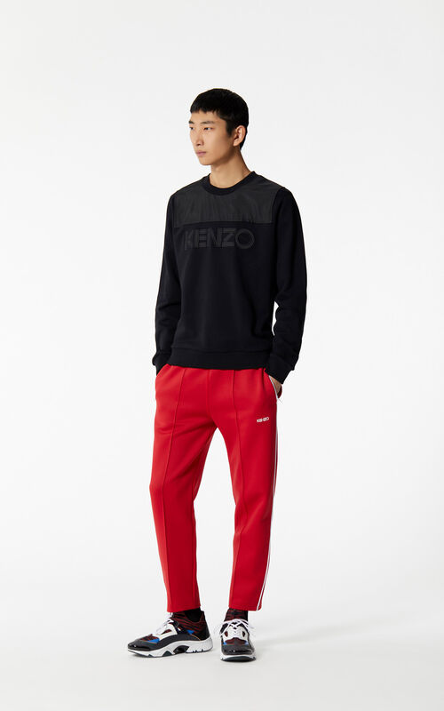 MEDIUM RED KENZO joggers for men