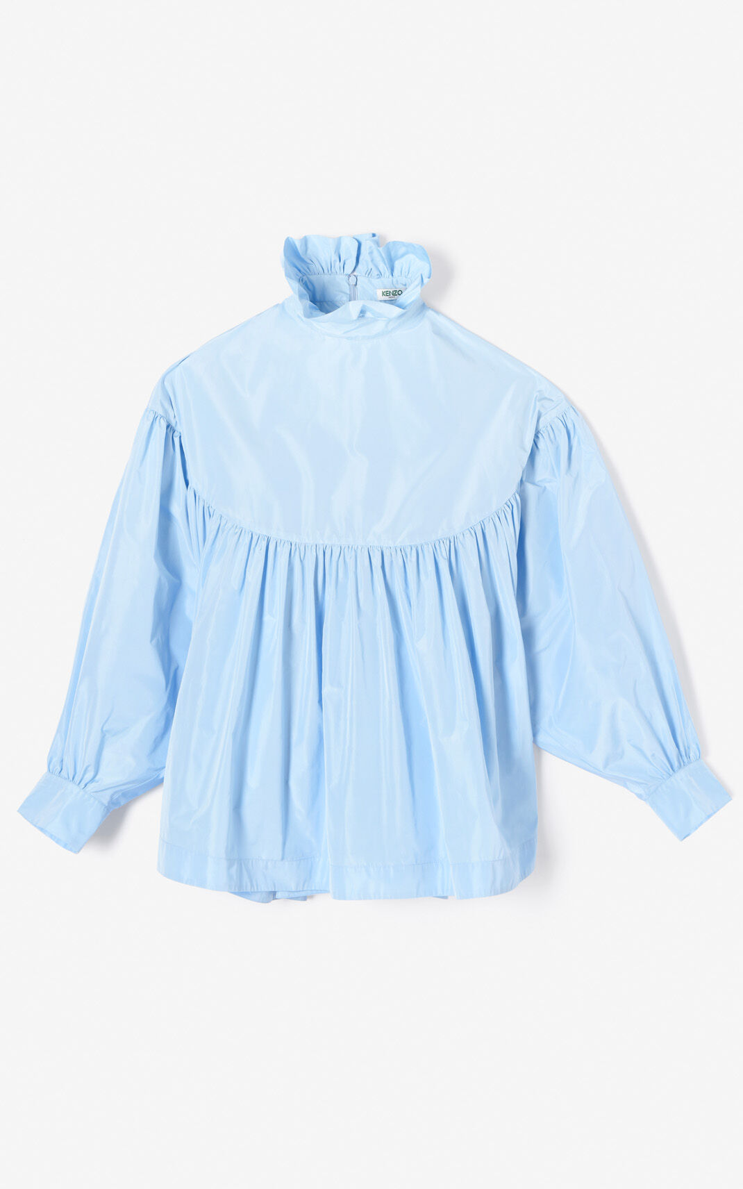 LIGHT BLUE Oversized flouncy blouse for women KENZO