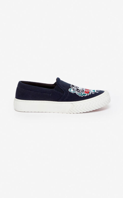 NAVY BLUE K-Skate Tiger slip-ons for men KENZO