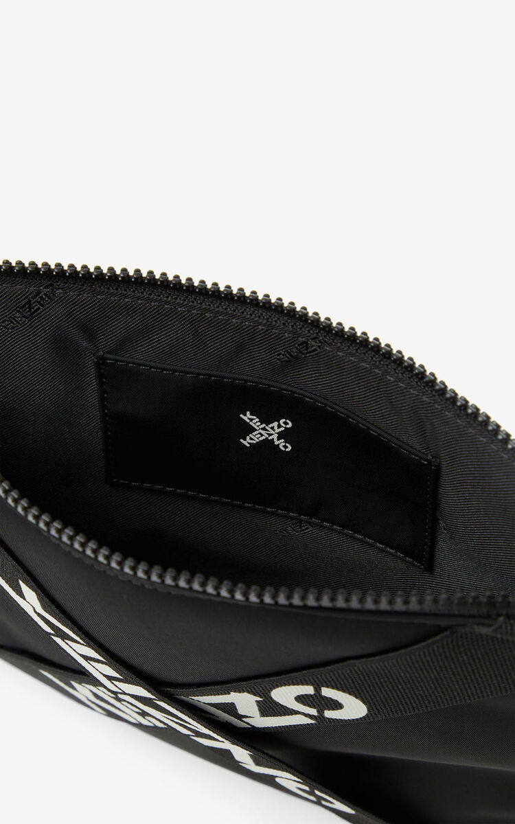 BLACK KENZO Sport large clutch for unisex
