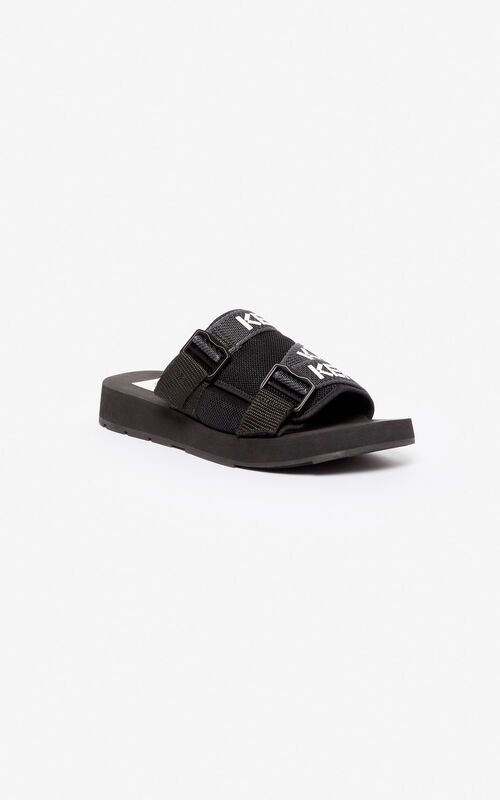 BLACK Papaya mules for unisex KENZO