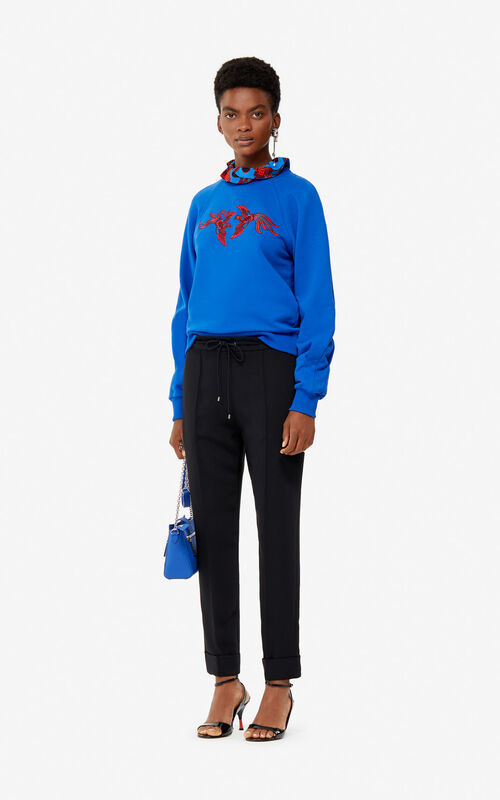 FRENCH BLUE 'Flying Phoenix' sweatshirt for women KENZO
