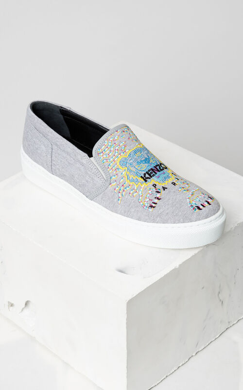 Géo-Tiger x Rainbow  Slip-on, DOVE GREY, KENZO
