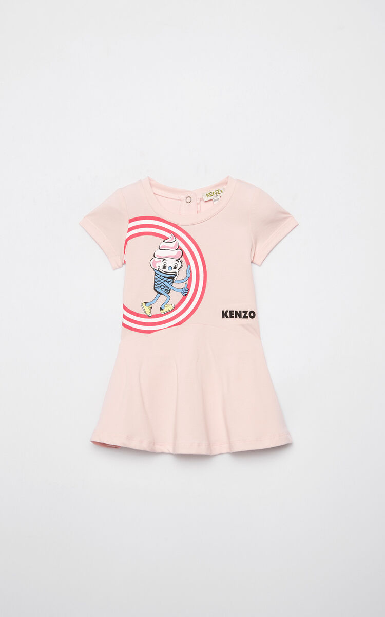 PASTEL PINK 'Food Fiesta' skater dress for women KENZO