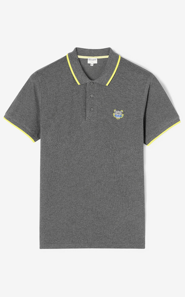 STONE GREY Slim fit Tiger polo shirt  for men KENZO