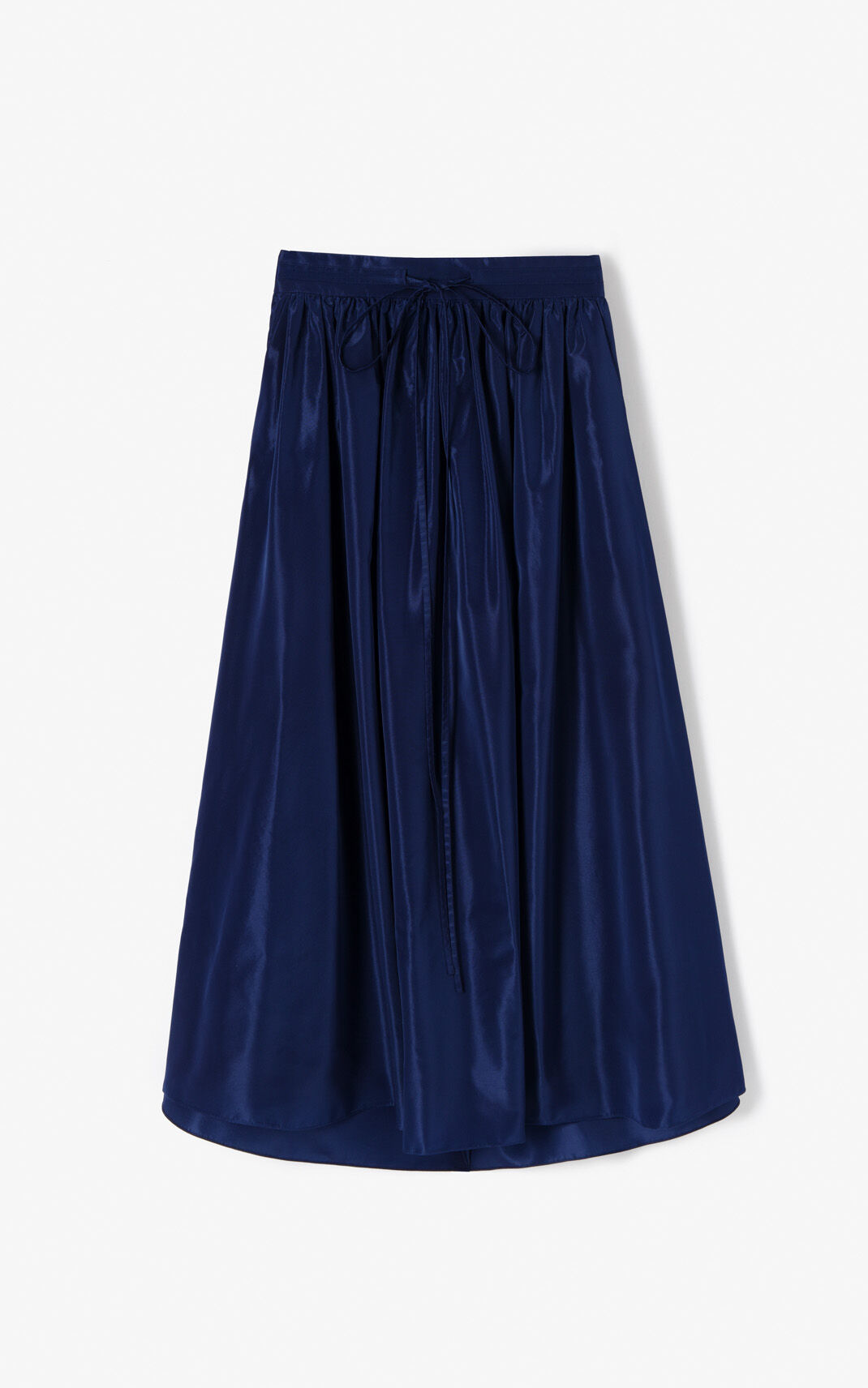 NAVY BLUE Fluid maxi skirt for women KENZO