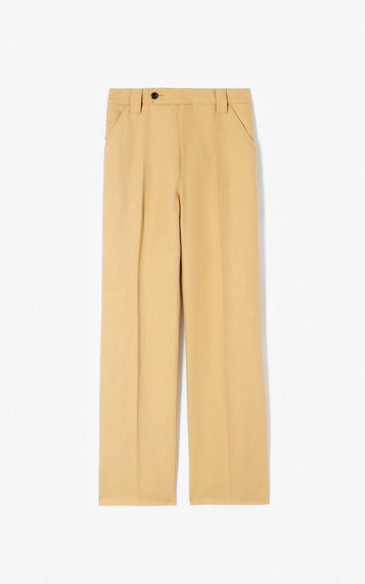 DARK BEIGE Straight trousers for men KENZO