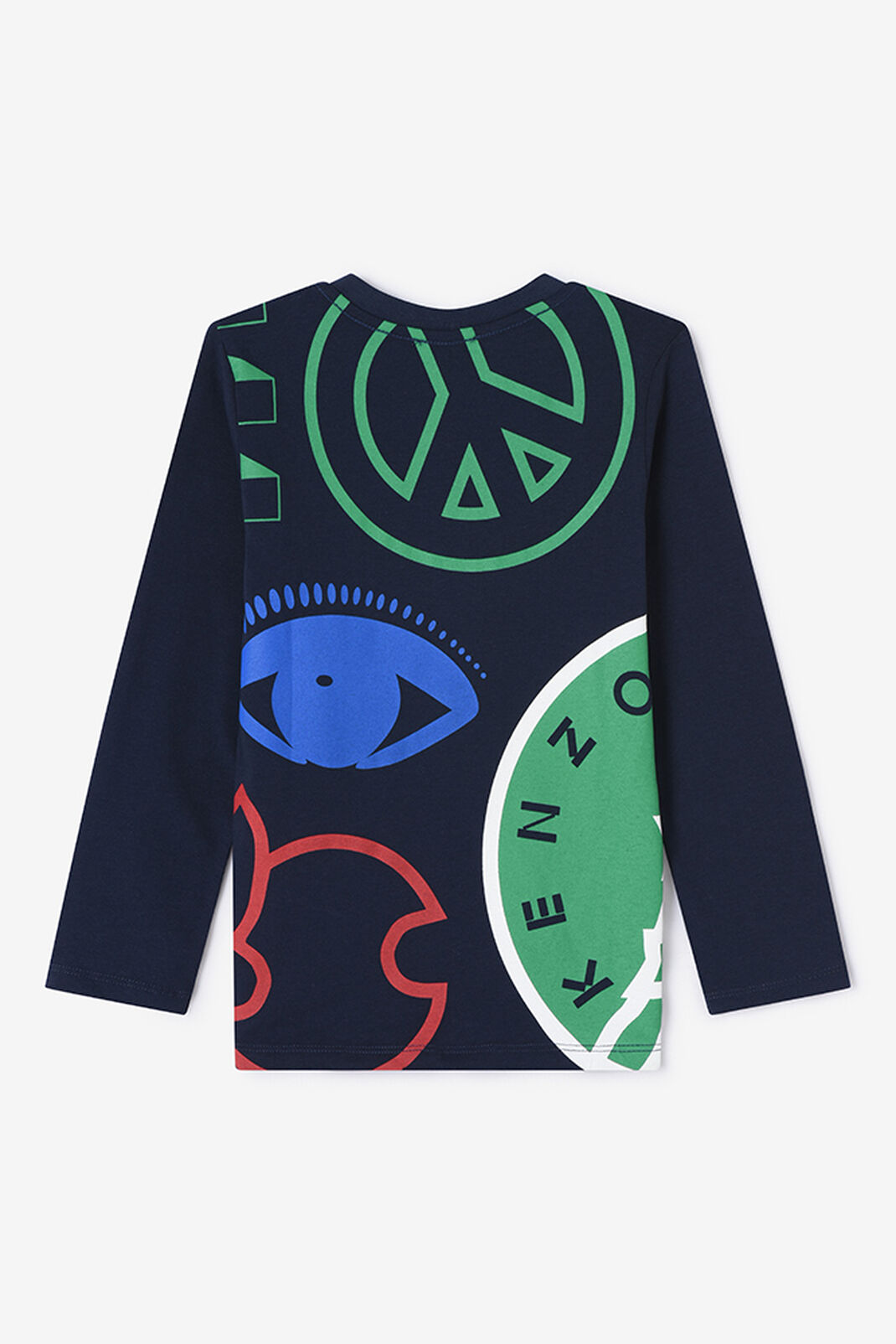 NAVY BLUE KENZO x Peace Long T-shirt for women