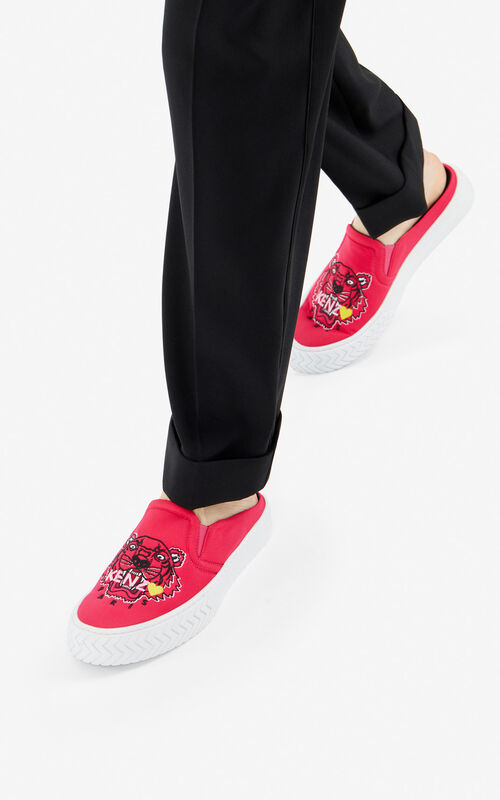 DEEP FUSCHIA Tiger K-Skate slip-on mules for women KENZO