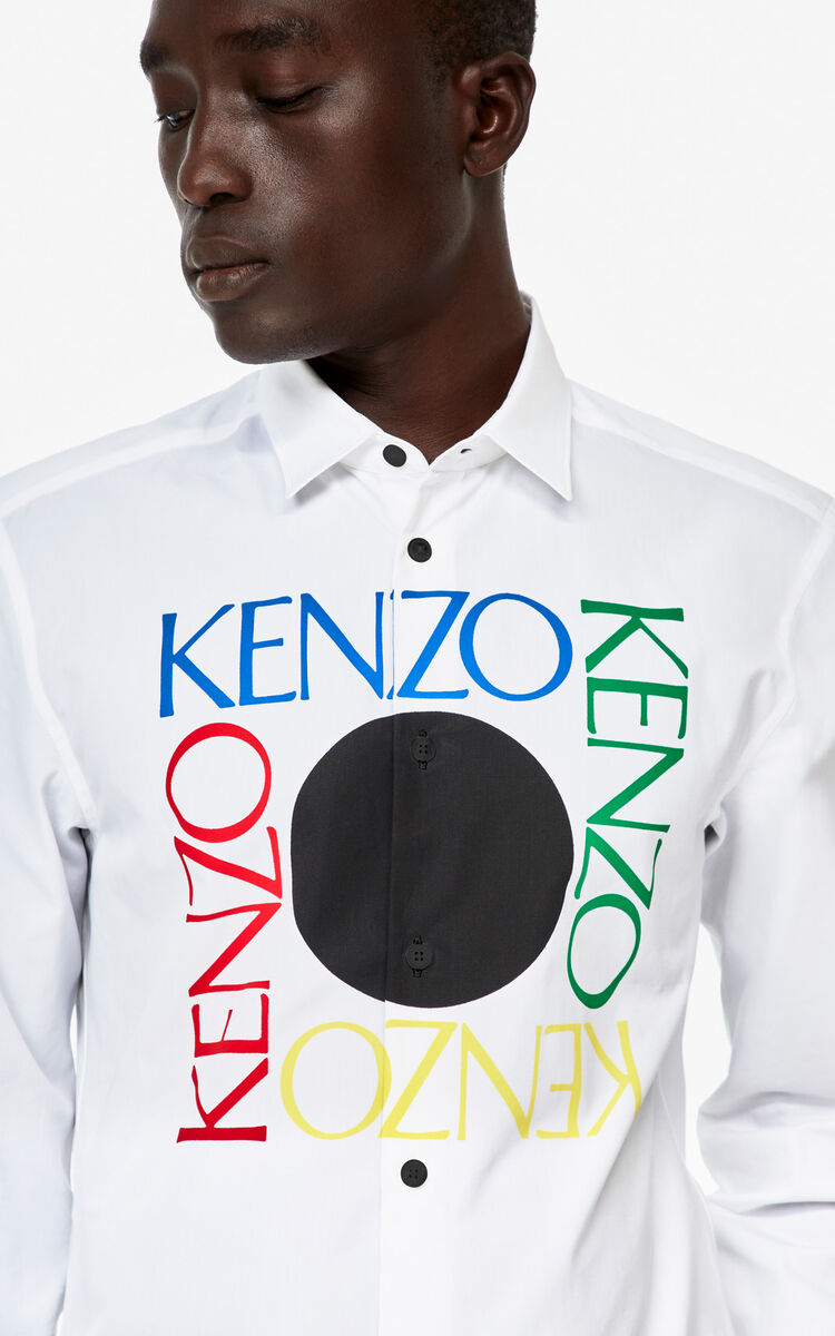 WHITE 'Square Logo' slim-fit shirt for women KENZO