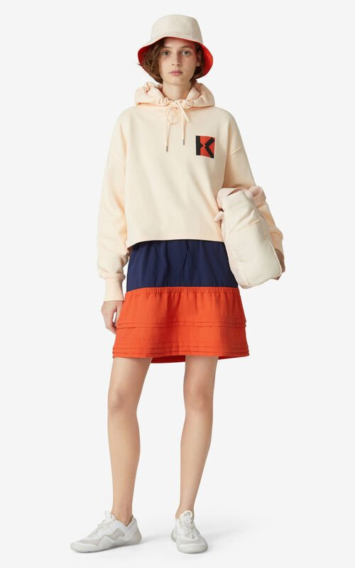 BLUSH KENZO Sport 'Blocked K' hooded sweatshirt for men