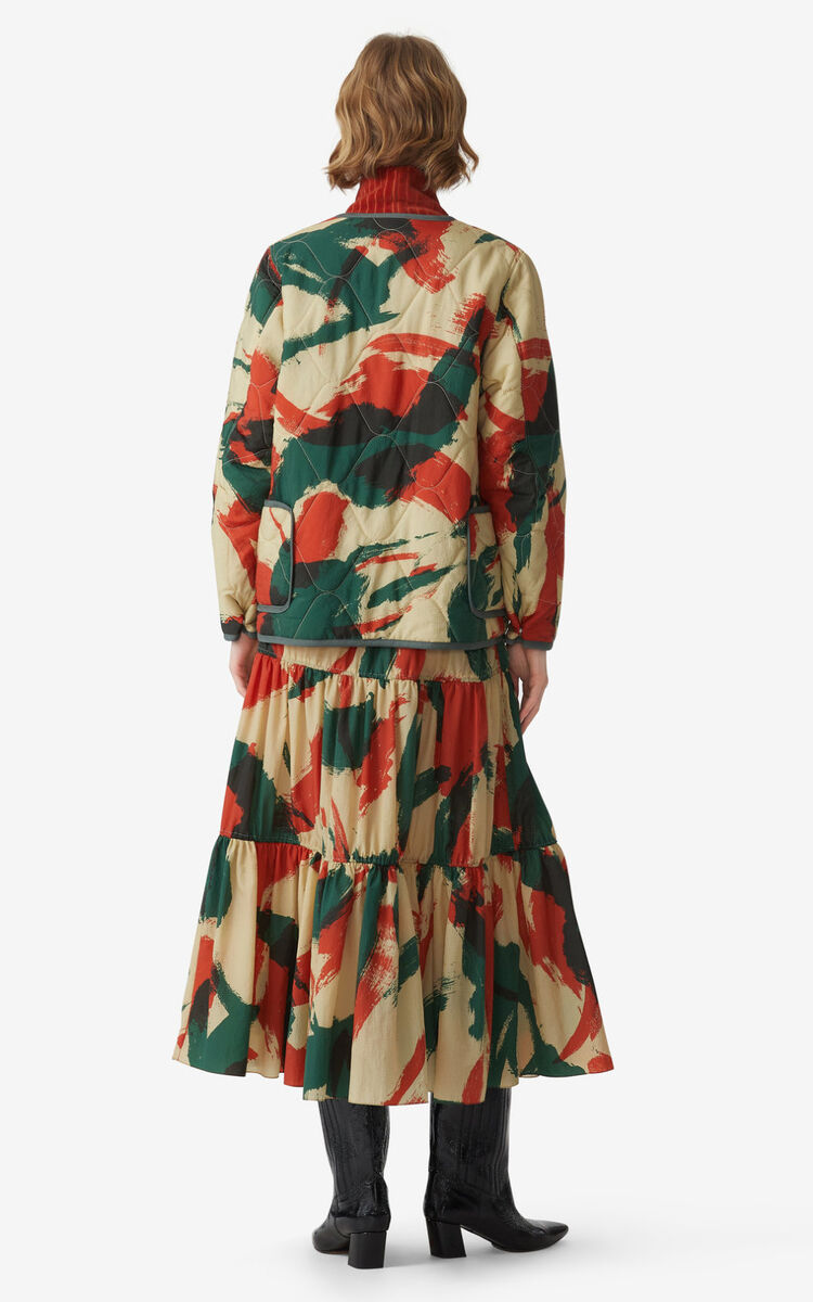 PAPRIKA 'Brushed Camo' midi skirt for women KENZO