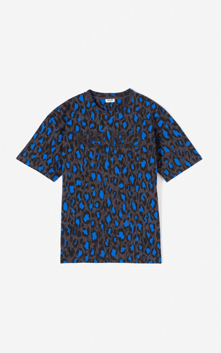 ANTHRACITE KENZO Paris 'Leopard' t-shirt for women