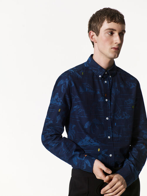 NAVY BLUE 'Tropical Ice' Shirt for men KENZO
