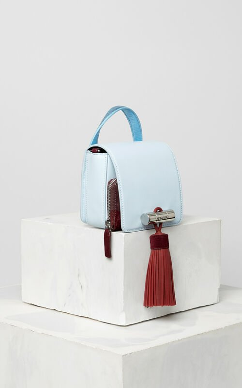 SKY BLUE Mini leather Sailor Bag for unisex KENZO