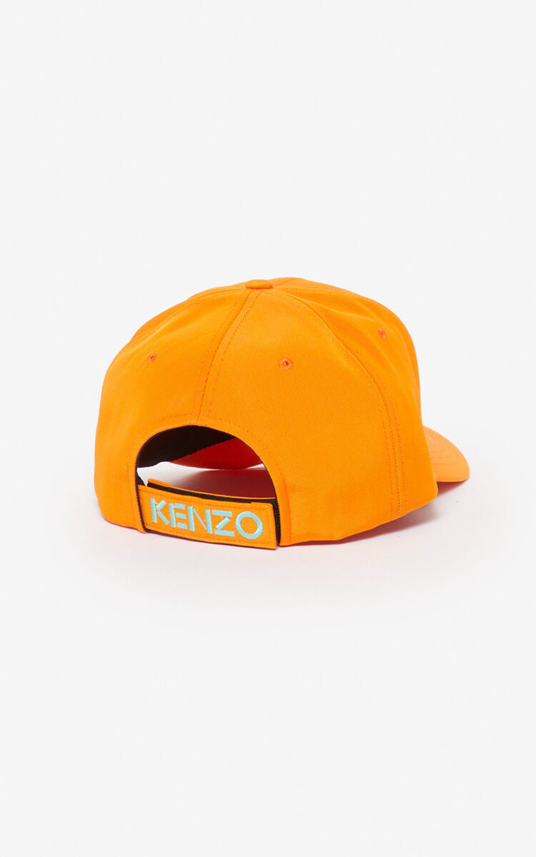 MEDIUM ORANGE Tiger Canvas Cap   for unisex KENZO
