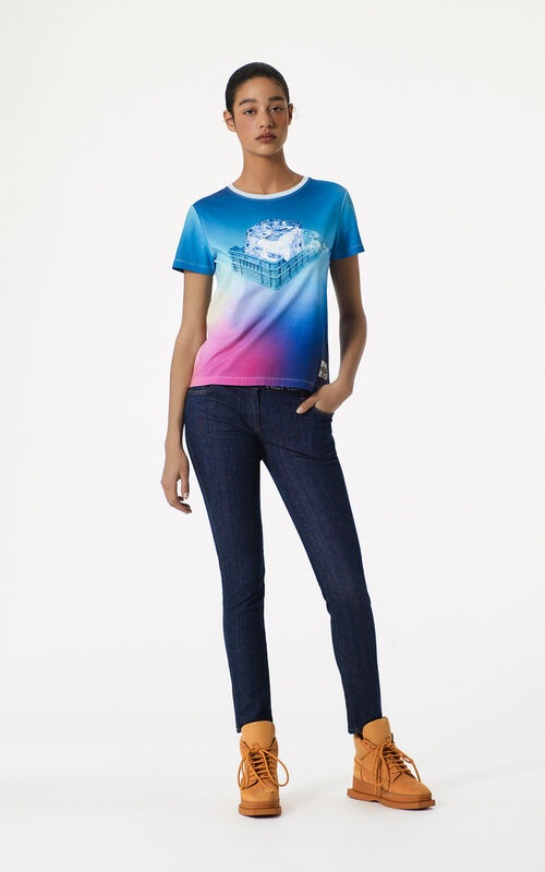 DEEP FUSCHIA Northern Lights x Iceberg' T-shirt for women KENZO