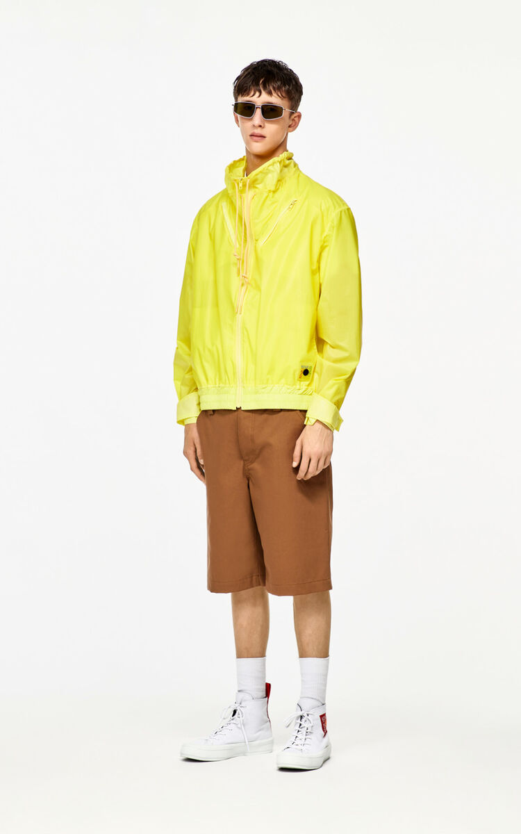 GOLDEN YELLOW Neon windbreaker for men KENZO