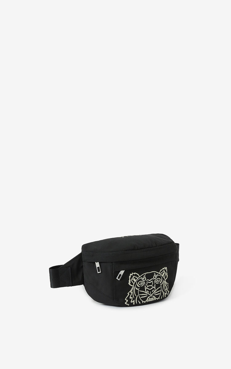 BLACK Tiger Bumbag for women KENZO