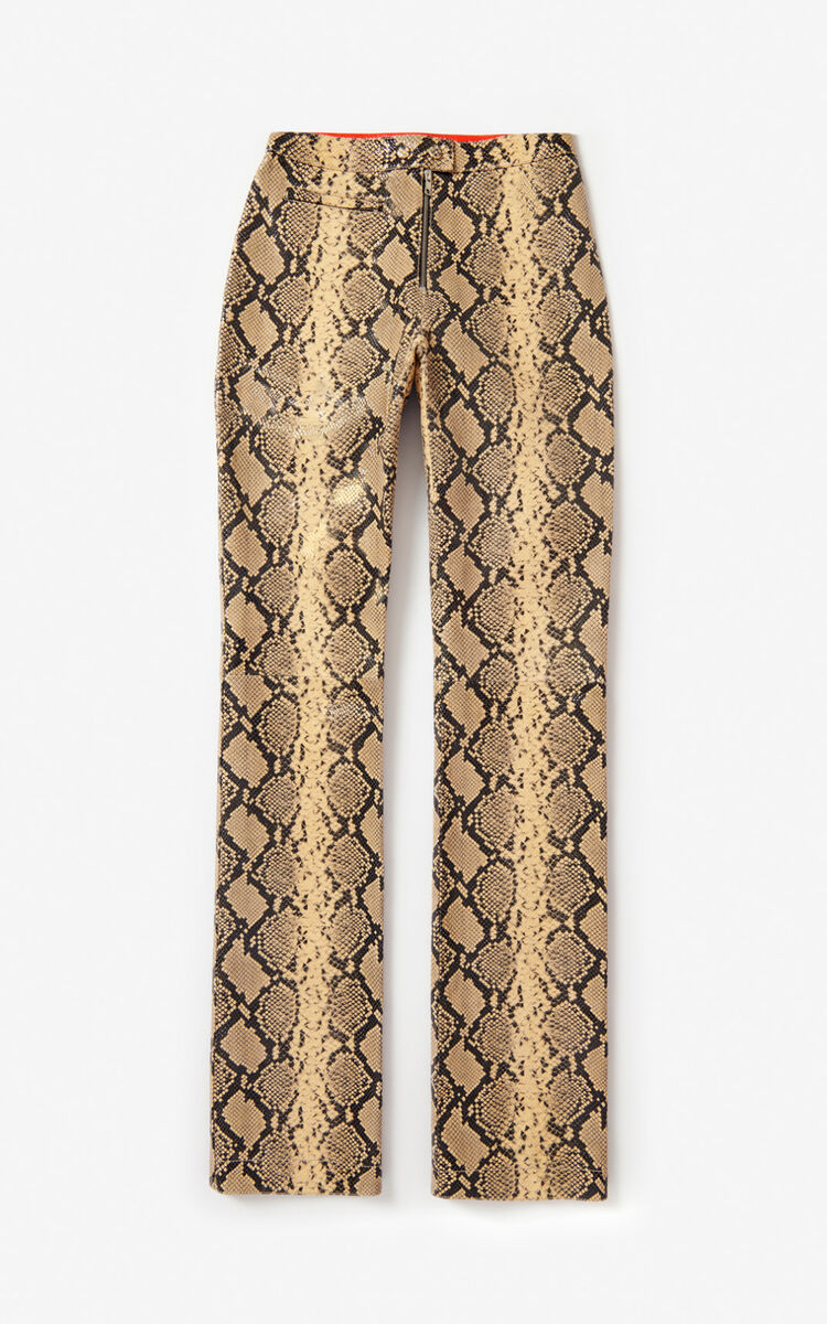 CREAM Python-effect leather trousers for women KENZO