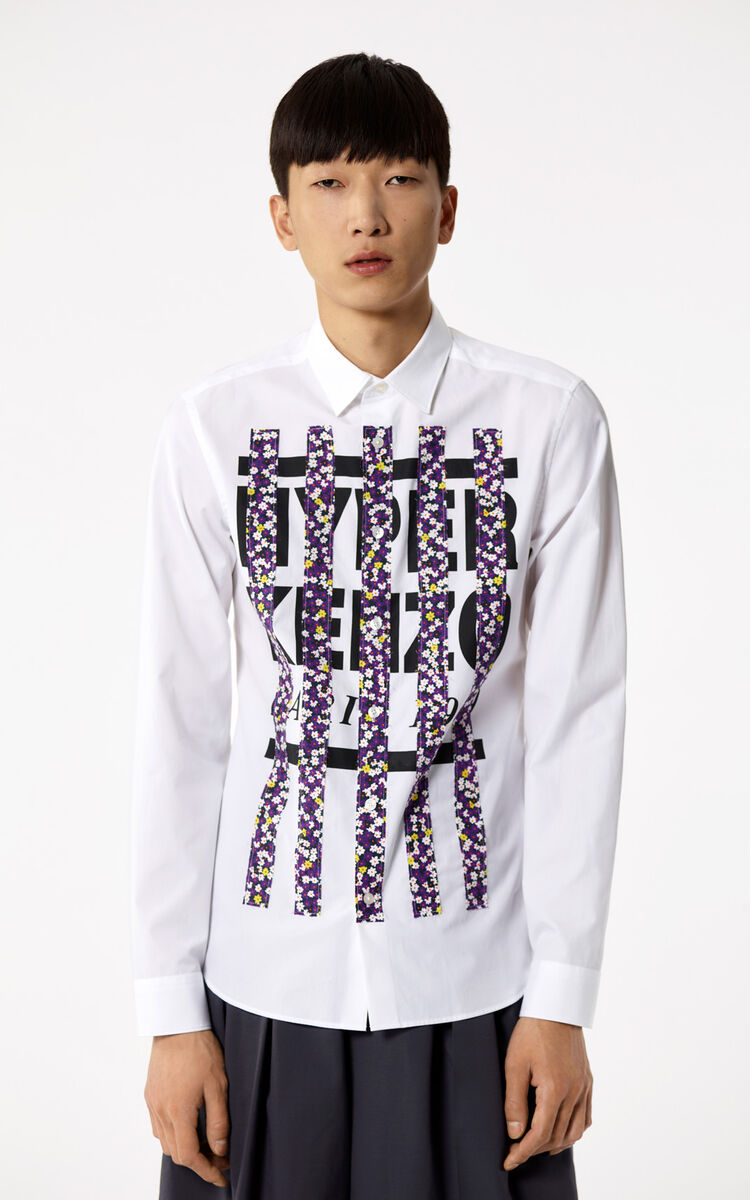 WHITE 'Hyper KENZO' shirt for men