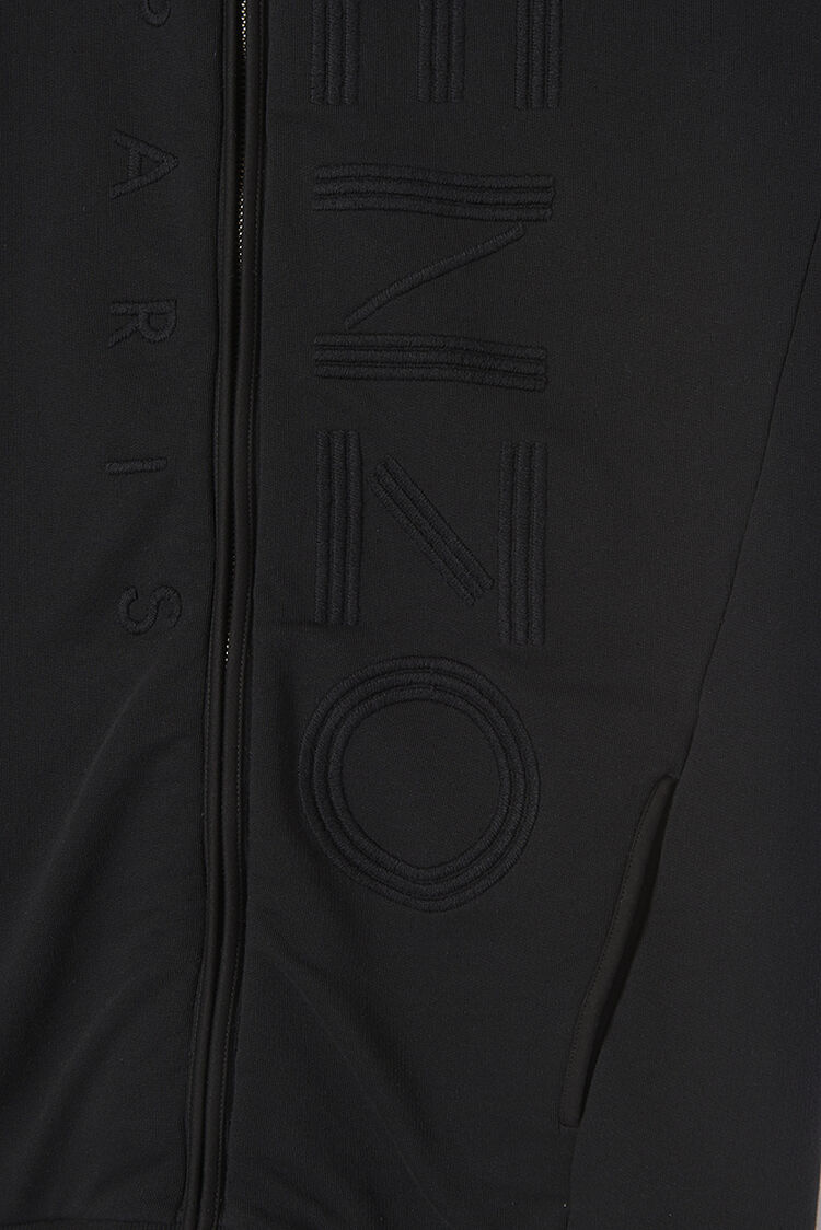 BLACK Extra Long KENZO Logo Sweatshirt for women