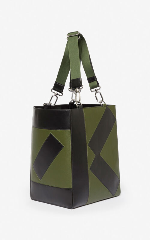 DARK KHAKI Kube Tote Bag for women KENZO