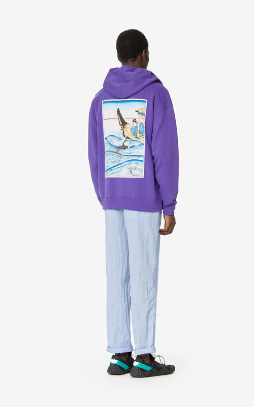 AUBERGINE 'Ama Diver' hooded sweatshirt for men KENZO
