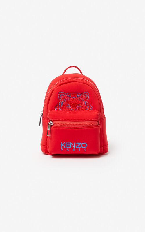MEDIUM RED Mini Neoprene Tiger Backpack for unisex KENZO