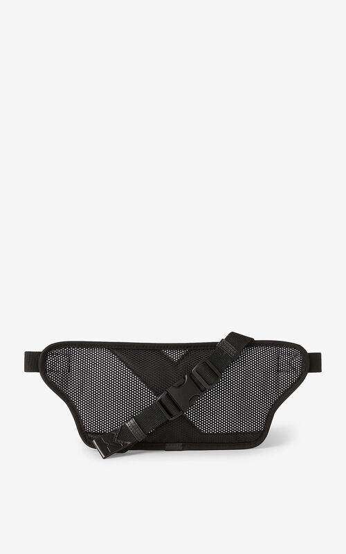 BLACK KENZO Sport belt bag for unisex