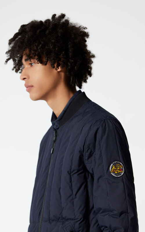 INK KENZO Logo reversible down jacket for men
