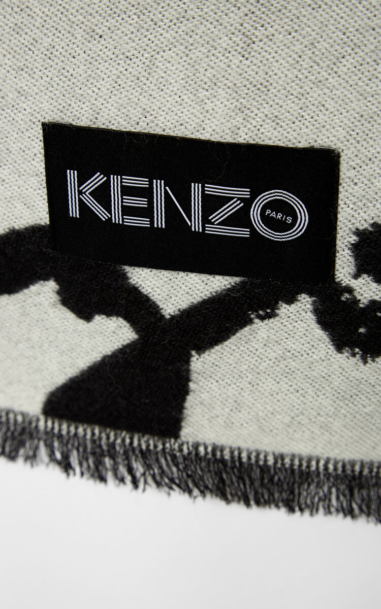 MULTICOLOR Multi Logo Scarf for unisex KENZO