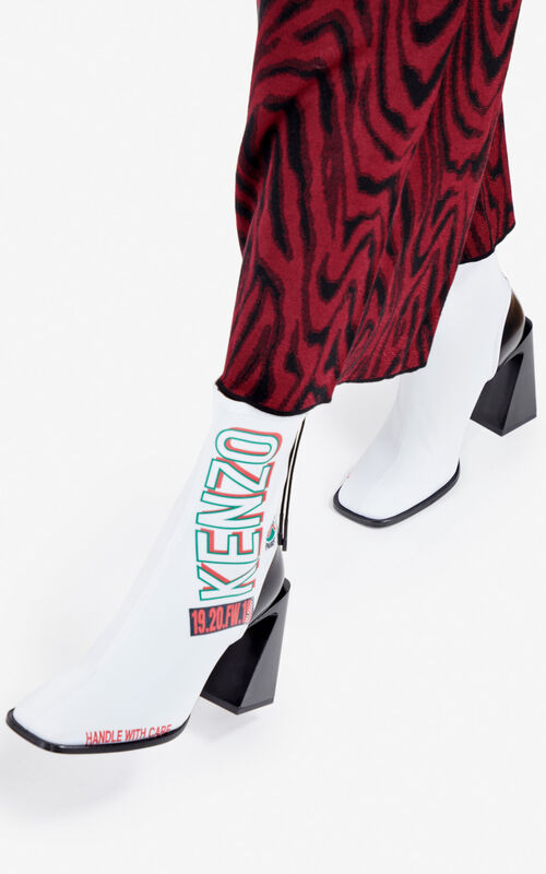WHITE K-Square ankle boots for women KENZO