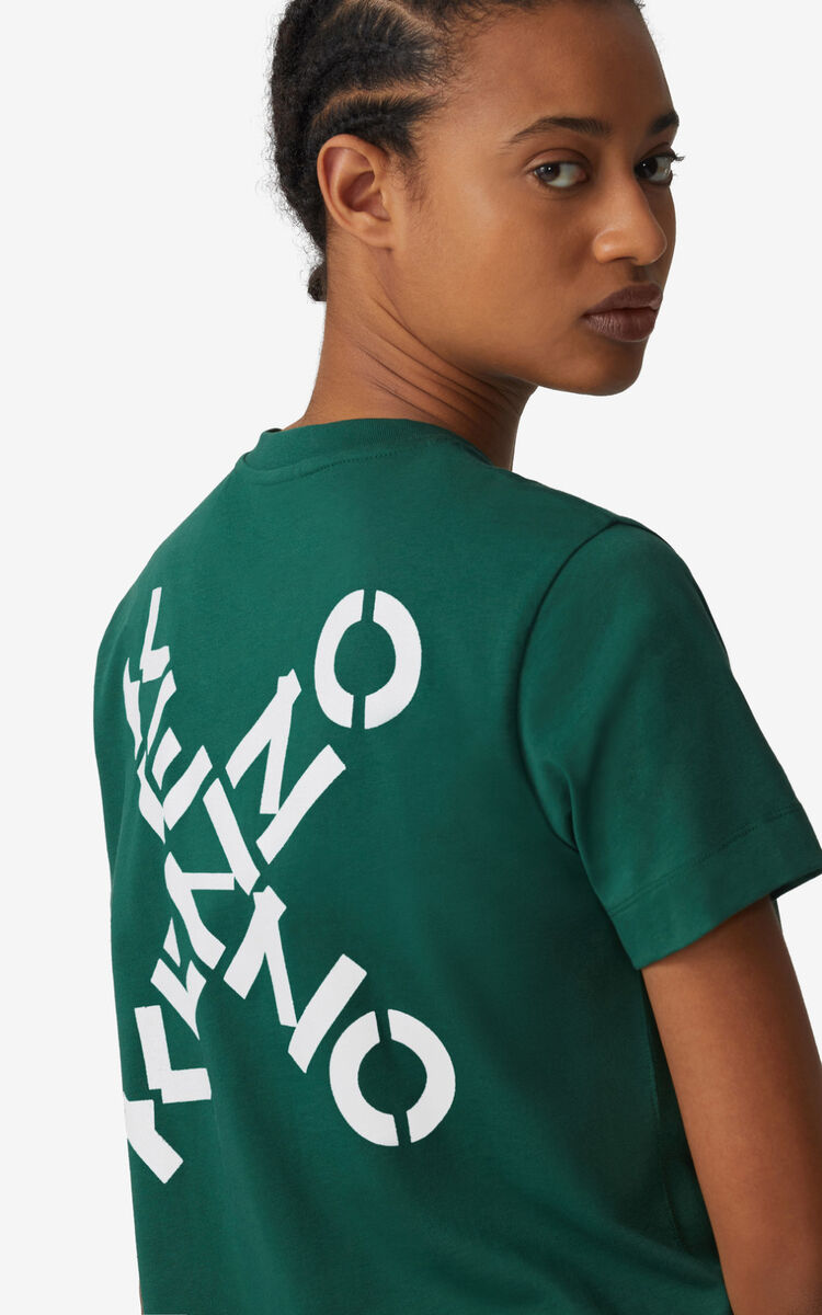 GREEN KENZO Sport 'Little X' t-shirt dress for men