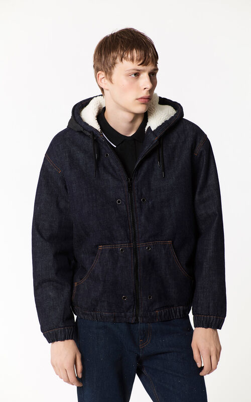 NAVY BLUE Borg Lined Denim Jacket  for men KENZO